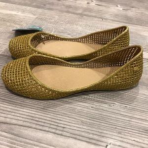 Zaxy Shoes - NEW Glittery Gold Zaxy Jelly Sandals
